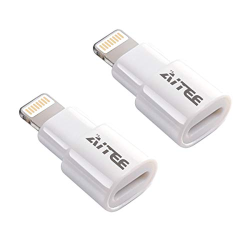 Extender Adapter,AITEE Dock Extension Connector for Lifeproof Otterbox Case Compatible with iPhone 5/5s/5c/SE/6/6S/7/8 Plus/X and iPad (White 2Pack)