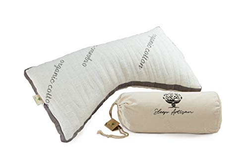 Sleep Artisan Luxury Side Sleeper Pillow - Organic Latex and Microfiber Pillows for Sleeping - Adjustable Loft, Hypoallergenic, Premium Ergonomic Design is Perfect for Neck Pain - Made in USA