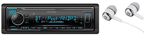 Kenwood KMM-BT322 Bluetooth USB MP3 WMA AM/FM Digital Media Player Dual Phone Connection Pandora Car Stereo Receiver/Free ALPHASONIK Earbuds
