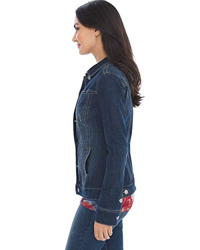 Chico's Women's Stretch Jean Jacket Denim Blue 3 Fashion Online Shop gifts for her gifts for him womens full figure