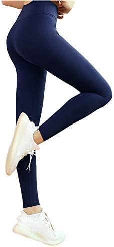 Harewom Tummy Control Leggings for Women High Waist Basic Breathable Soft Compression Workout Tights Pants 2