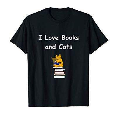 I Love Books And Cats T-Shirt, Gift For Bookworm Shirt