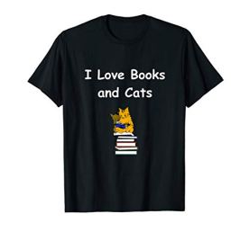 I-Love-Books-And-Cats-T-Shirt-Gift-For-Bookworm-Shirt