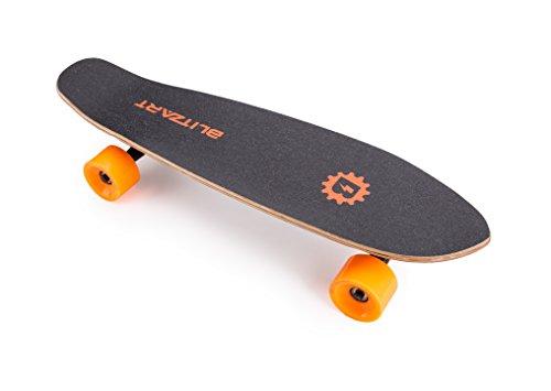 Blitzart Mini Flash 28' Electric Skateboard Electronic Hub-Motor 2.8' Wheel E-Skateboard (ORANGE)