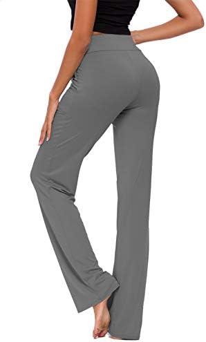 Womens Yoga Pants with Pockets Straight-Leg Loose Comfy Modal Drawstring Lounge Running Long Active Casual Sweatpants 4
