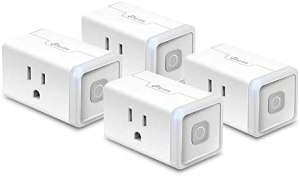 Kasa Smart Plug HS103P4, Smart Home Wi-Fi Outlet Works with Alexa, Echo, Google Home & IFTTT, No Hub Required, Remote Control, 15 Amp, UL Certified,4-Pack