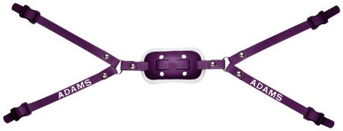 Adams USA 100-4D 4-Point High Hook Up Football Gel Chinstrap, Purple