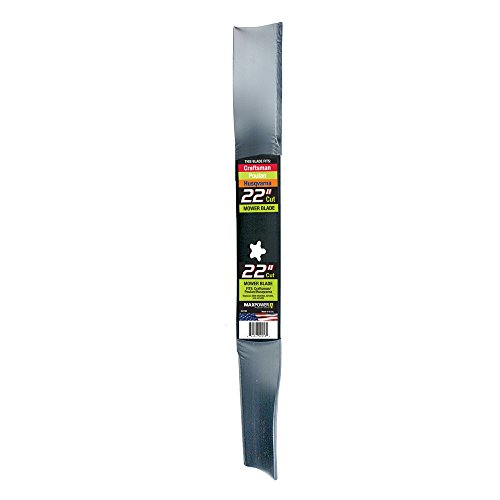 MaxPower 331740S Mower Blade for 22 Inch Cut Poulan/Husqvarna/Craftsman Replaces 420463, 421825, 437601, 532420463, 532421825, 532437601