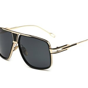 Gobiger Aviator Sunglasses for Men 100% UV Protection Goggle Alloy Frame with Case