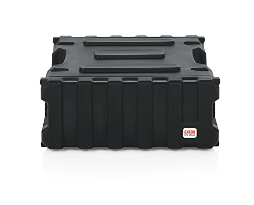 Gator Cases Pro Series Rotationally Molded 4U Rack Case with Standard 19' Depth; Made in USA (G-PRO-4U-19)