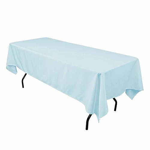 Gee Di Moda Rectangle Tablecloth - 60 x 102 Inch - Rectangular Table Cloth for 6 Foot Table in Washable Polyester - Great for Buffet Table, Parties, Holiday Dinner, Wedding & More