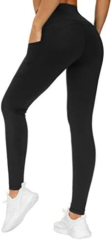 THE GYM PEOPLE Thick High Waist Yoga Pants with Pockets, Tummy Control Workout Running Yoga Leggings for Women 4