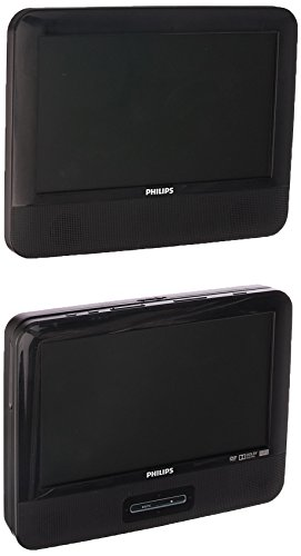 Philips PD9012/37 LCD Dual Screen Portable DVD Player, 9-inch - Black (Certified Refurbished)