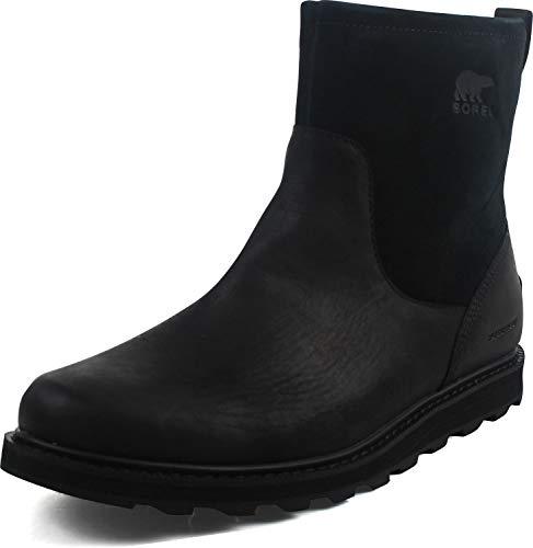SOREL Mens Madson Zip Waterproof Black Tobacco Boot - 11.5