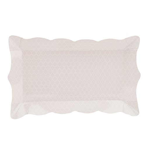 Simply-Baked-Paper-Buffet-Tray-4x9-Inch-Pearl-Quadrafoil-6-Pack-Disposable-and-Beautiful-for-Serving-Entertaining-Anytime