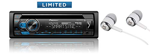 Pioneer DEH-S4120BT in Dash CD AM/FM Receiver with MIXTRAX, Bluetooth Dual Phone Connection, USB, Spotify, Pandora Control, iPhone and Android Music Support, Smart Sync App/Free ALPHASONIK Earbuds