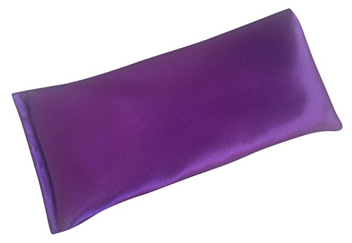 Lavender Eye Pillow- Silky Eye Pillow for Yoga, Meditation Relaxation. This Eye Mask Is Perfect for Sleeping. Made of Lavender Flowers Organic Flax Seed. Get One for Yourself or As a Gift.
