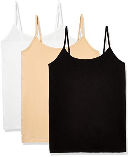 Layla's Celebrity Women's Seamless Basic Layer Camisole Top Nylon Spandex, 3 Pack