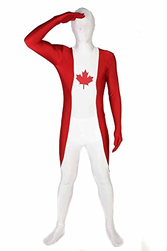 "Canada Original Flag Morphsuit Fancy Dress Costume - size Large - 5""5-5""9 (163cm-175cm)"