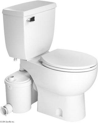 Saniflo Sanibest Grinder Pump with Round White Toilet