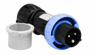 Hazardous Location Pin and Sleeve Plug – 3 Pole 4 Wire – 63 Amp – ATEX Rated