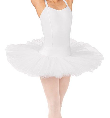 Homemade white swan costume - Adult 6-Layer Practice Tutu,N8897WHTXXS,White,XXS