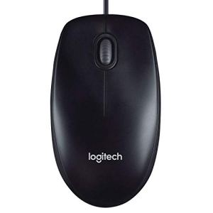 Logitech M90 Wired USB Mouse, 1000 DPI Optical Tracking, Ambidextrous PC/Mac/Laptop – Black