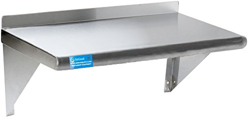 AmGood 12' X 30' Stainless Steel Wall Shelf   NSF Certified   Appliance & Equipment Metal Shelving   Kitchen, Restaurant, Garage, Laundry, Utility Room