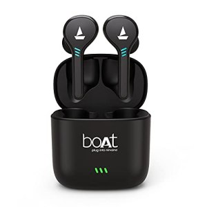 Boat Airdopes 433 Twin Wireless Ear-Buds with Mic(Red)