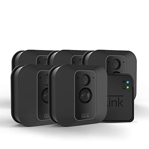 All-new Blink XT2 Outdoor/Indoor Smart Security Camera with cloud storage included, 2-way audio, 2-year battery life - 5 camera kit