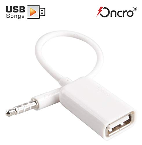 ONCRO® 3.5mm AUX Audio Plug to USB 2.0 Converter Adapter USB Aux Cable for Car MP3 Speaker U Disk USB Flash Drive Accessories 262