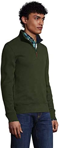 Lands' End Men's Bedford Rib Quarter Zip Sweater