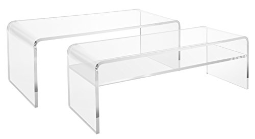 Clear Acrylic Coffee Table Thick Entryway Or Bedroom Bench - Clear acrylic cocktail table