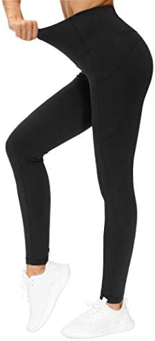 THE GYM PEOPLE Thick High Waist Yoga Pants with Pockets, Tummy Control Workout Running Yoga Leggings for Women 2