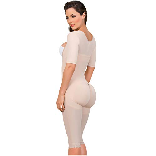 a289fc04d8781 Fajas Colombianas MariaE Post-surgery Post partum with Sleeves Beige ...