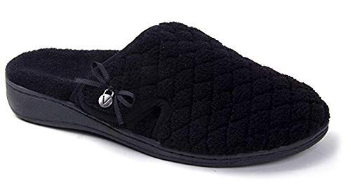 Vionic Women's Adilyn Slipper- Ladies Adjustable Slippers with Concealed Orthotic Arch Support Black 9 Medium US