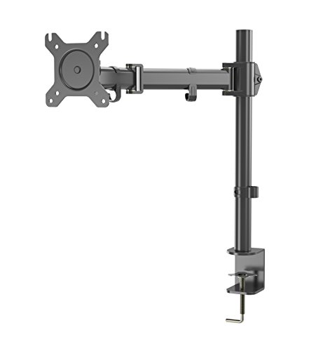 Gibbon Mounts Single Monitor Desk Mount Fit Full Motion VESA 75X75 and 100X100 Monitor, 17.6 lbs Capacity, C-Clamp Base