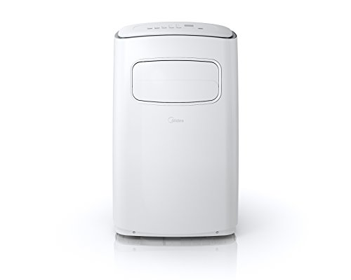 Midea MPF14CR71-A EasyCool Portable Air Conditioner with FollowMe Remote Control in White/Silver for Rooms up to 400-Sq. Ft.