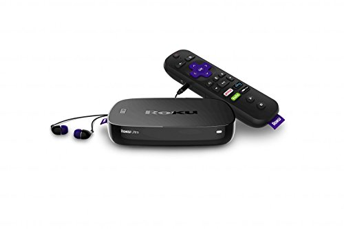 Roku Ultra | 4K/HDR/HD Streaming Player with Enhanced Remote (Voice, Remote Finder, Headphone Jack, TV Power and Volume), Ethernet, MicroSD and USB
