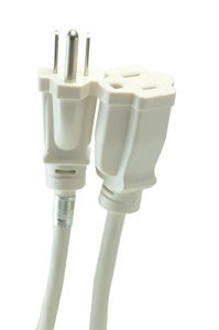 Woods 277563 8-Foot Outdoor Extension Cord with Power Block, White