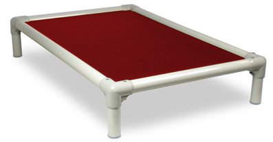 Kuranda Almond PVC Chewproof Dog Bed - XL (44x27) - Ballistic Nylon - Burgundy