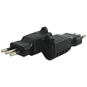 Conntek 30061 U.S. 2/3 Prong Plug to Italy Plug Adapter 250V