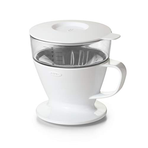 OXO BREW Single Serve Pour Over Coffee Dripper with Auto-Drip Water Tank
