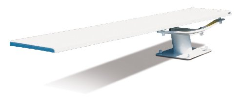 S.R. Smith 68-209-5982 606/608 Cantilever Jump Stand with 8-Feet Frontier III Diving Board, White