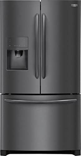 """Frigidaire 4 Piece Kitchen Package FGHB2867TD 36""""French Door Refrigerator,FGGF3036TD 30""""Gas Range, FGMV176NTD 30""""Over the Range Microwave FGID2466QD 24""""Built In Dishwasher in Black Stainless Steel"""