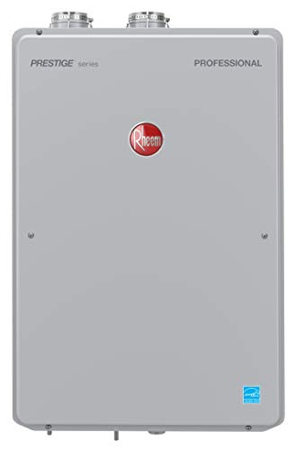 RHEEM RTGH-84DVLN-2 Natural Gas Condensing Tankless Water Heater, Silver