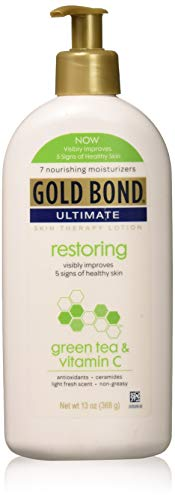 Gold Bond Ultimate Restoring Lotion with Green Tea, 13 Ounce, Vitamin C & Antioxidants Help Restore Moisture & Smooth & Soften Skin
