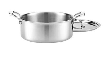 Heritage-Steel-6-Quart-Rondeau-with-Lid-Titanium-Strengthened-316Ti-Stainless-Steel-with-5-Ply-Construction-Induction-Ready-and-Dishwasher-Safe-Made-in-USA