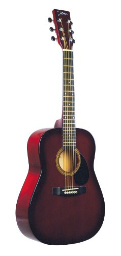 Johnson JG-610-R-¾ 610 Player Series ¾ Size Acoustic Guitar, Red