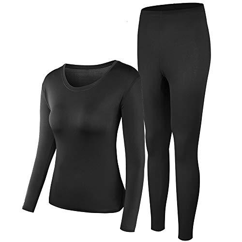 PISIQI Wonmen Thermal Underwear Set Winer Skiing Warm Top Thermal Long Johns